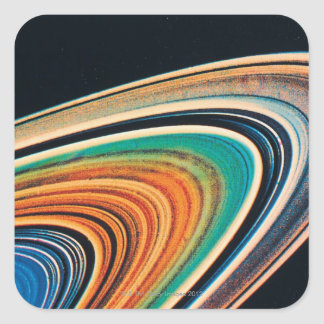 The Rings of Saturn 2 Square Sticker