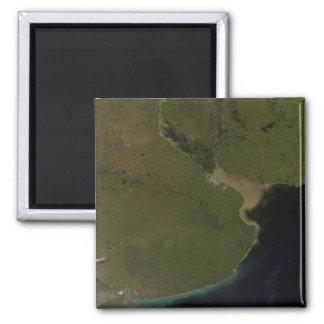 The Rio de la Plata estuary 2 Inch Square Magnet