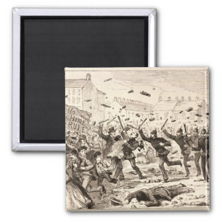 The Riots in Belfast 2 Inch Square Magnet