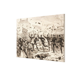 The Riots in Belfast Canvas Print