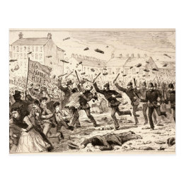 The Riots in Belfast Postcard