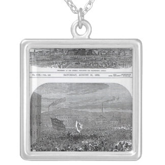 The Riots in Belfast Silver Plated Necklace