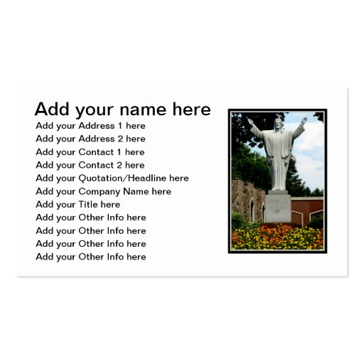 The Risen Jesus Double-Sided Standard Business Cards (Pack Of 100)