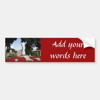 The Risen Jesus Christ statue Car Bumper Sticker