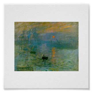 The Rising Sun by Claude Monet Print