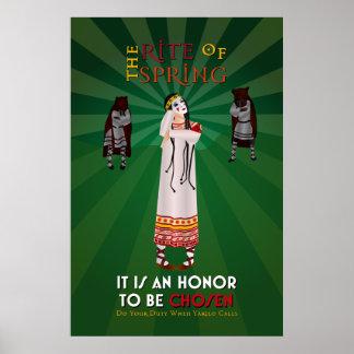 The Rite of Spring Pagan Propaganda Poster