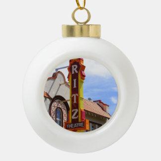 The Ritz Ceramic Ball Christmas Ornament