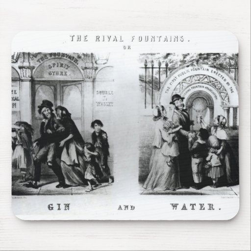 The Rival Fountains or Gin and Water Mouse Pad