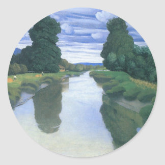 The River at Berville by Felix Vallotton Classic Round Sticker