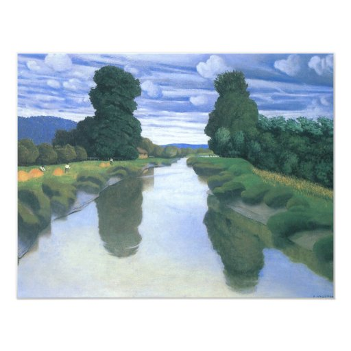 The River at Berville by Felix Vallotton 4.25x5.5 Paper Invitation Card