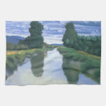 The River at Berville by Felix Vallotton Kitchen Towels