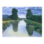 The River at Berville by Felix Vallotton Postcard