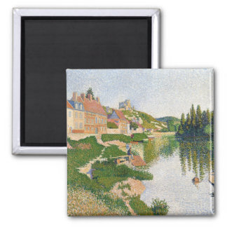 The River Bank, Petit-Andely, 1886 2 Inch Square Magnet