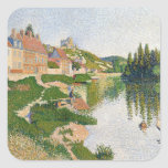 The River Bank, Petit-Andely, 1886 Square Sticker