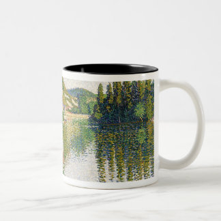 The River Bank, Petit-Andely, 1886 Two-Tone Coffee Mug