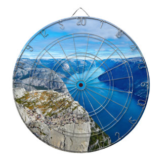 The River Blue Dartboard With Darts