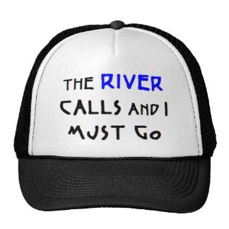 the river calls trucker hat