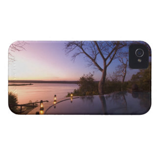 The River Club lodge, sunset on Zambesi River, iPhone 4 Cover