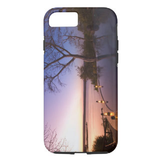 The River Club lodge, sunset on Zambesi River, iPhone 7 Case