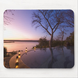 The River Club lodge, sunset on Zambesi River, Mouse Pad