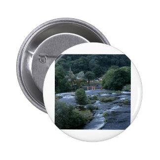 The River Dee, at Llangollen, Denbighshire, Wales Buttons