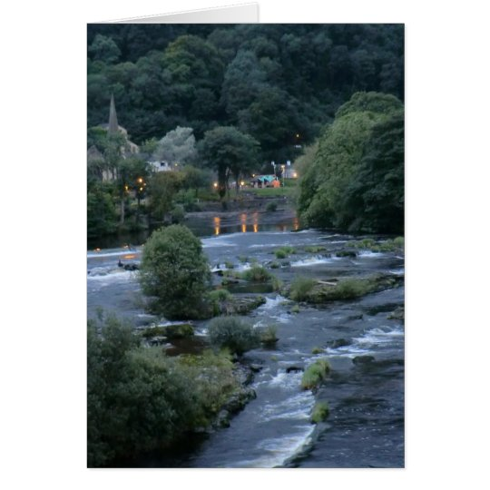 The River Dee, at Llangollen, Denbighshire, Wales Card