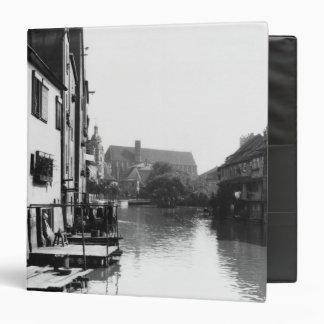 The River Gera at Erfurt, Thiringia, c.1910 3 Ring Binder