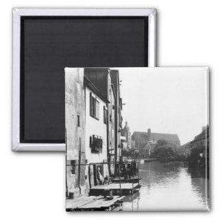 The River Gera at Erfurt, Thiringia, c.1910 Magnet
