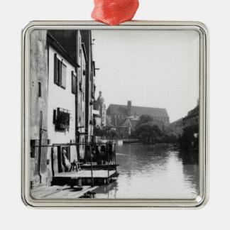 The River Gera at Erfurt, Thiringia, c.1910 Metal Ornament