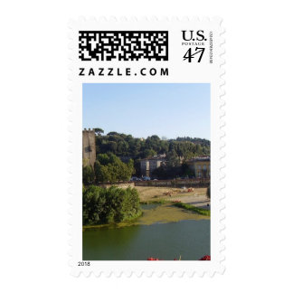 The river in Florence Postage