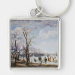 The river in winter Keychain