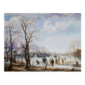 The river in winter Postcard