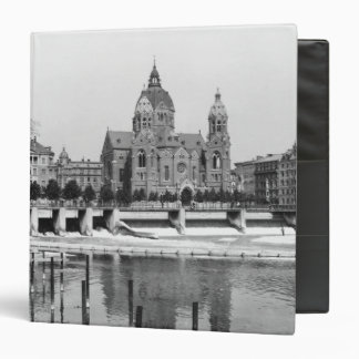 The river Isar at Munich c 1910 3 Ring Binder