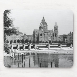 The river Isar at Munich, c.1910 Mouse Pad