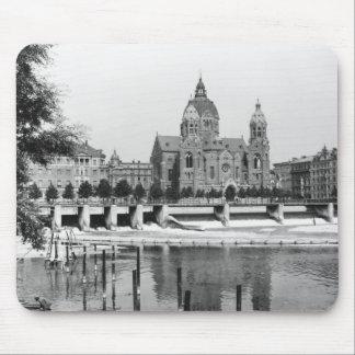 The river Isar at Munich c 1910 Mousepad