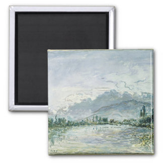 The River Isere at Grenoble, 1877 2 Inch Square Magnet