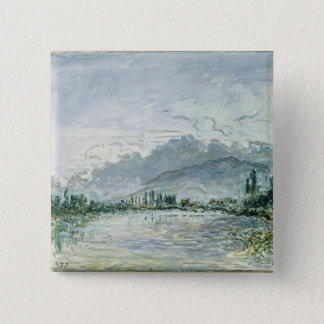 The River Isere at Grenoble, 1877 Pinback Button