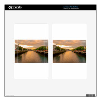 The River Liffey Sunset Tom Wurl Decals For Kindle Fire
