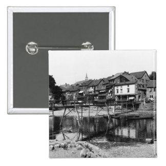 The River Nahe, Bad Kreuznach, c.1910 Pinback Button