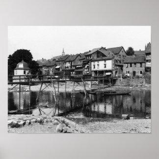 The River Nahe, Bad Kreuznach, c.1910 Poster