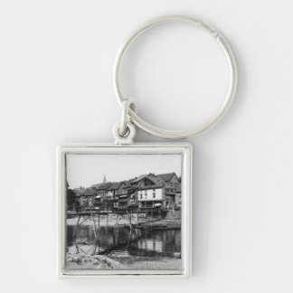 The River Nahe, Bad Kreuznach, c.1910 Silver-Colored Square Keychain