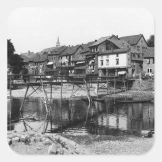 The River Nahe, Bad Kreuznach, c.1910 Square Sticker