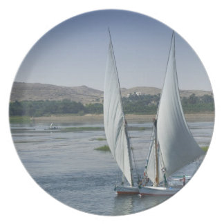The River Nile and sailing boats used as Party Plate