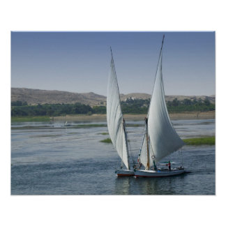 The River Nile and sailing boats used as Poster