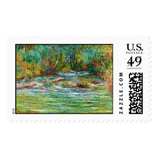 The River of Epte at Giverny, Summer Claude Monet Postage