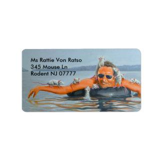 The River Rats Man address label