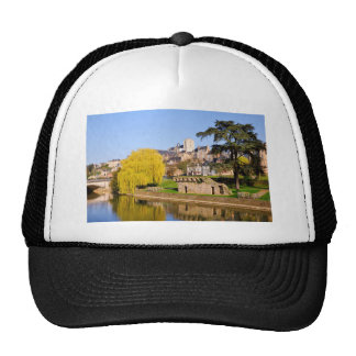 The river Sarthe at Le Mans in France Trucker Hat