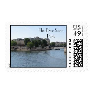 The River Seine, Paris Stamp