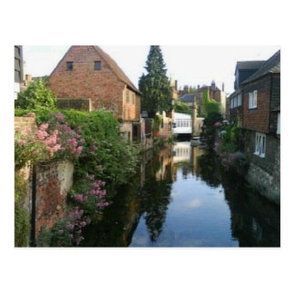 The River Stour at Canterbury ducking stool side Postcard