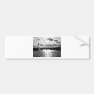 The River Thames and London mono Car Bumper Sticker